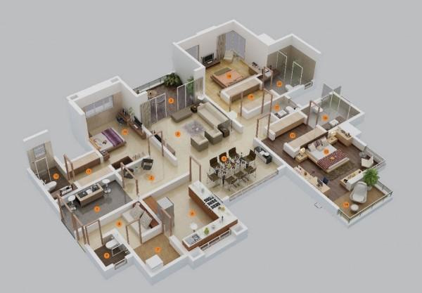 แปลนบ้าน3ห้องนอนสวยๆ