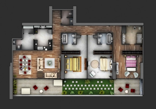 แปลนบ้าน 3 ห้องนอนสวยๆ